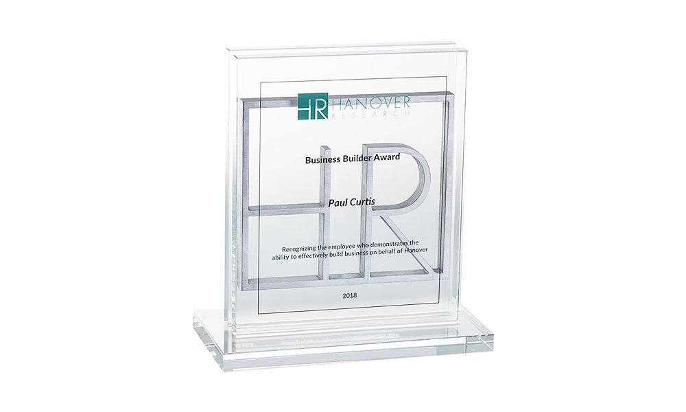 Pewter and Crystal Sales Recognition Award