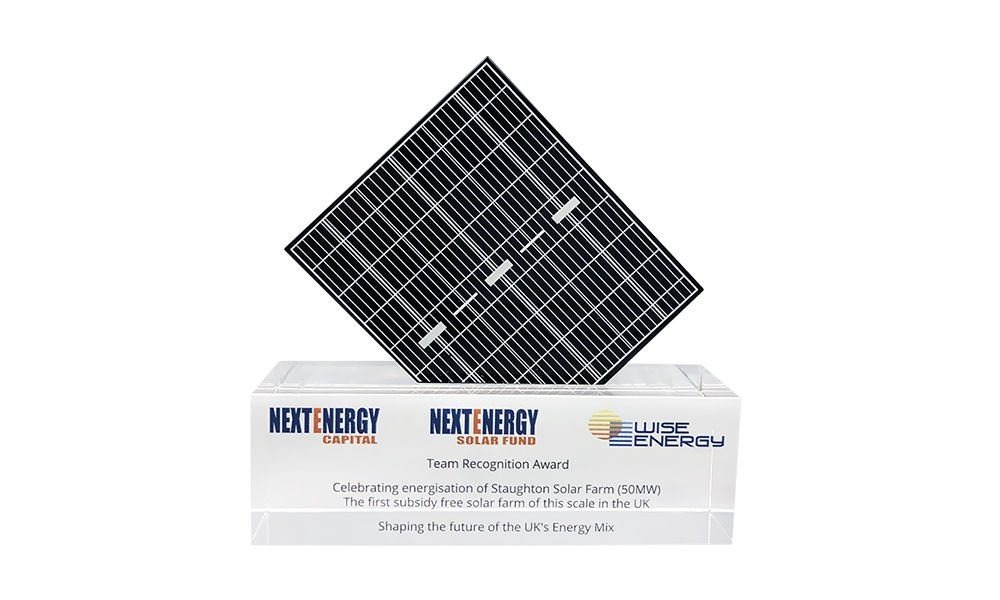 Solar Panel-Themed Award
