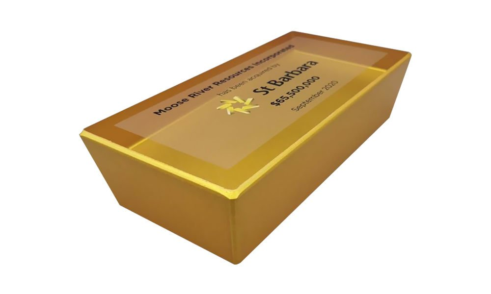Gold Bar-Themed Financial Tombstone