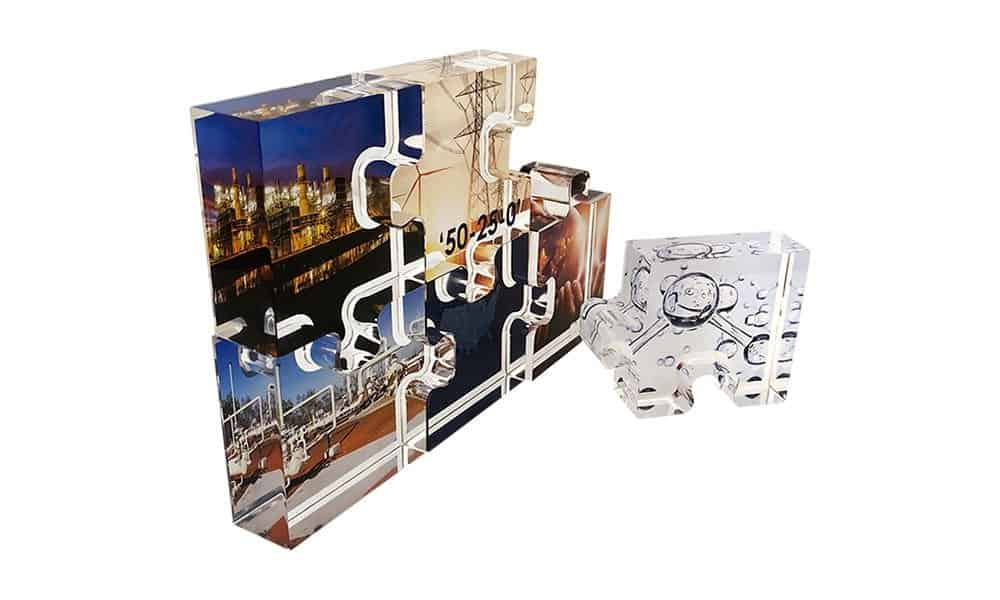 Puzzle-Themed Lucite Commemorative