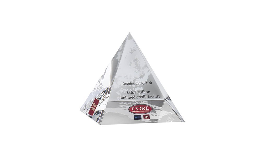 Crystal Pyramid Deal Toy